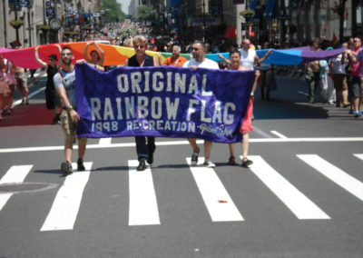 1998 20th Anniversary Flag In NYC