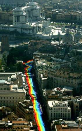 2000 Rome World Pride Flag