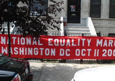 2009 DC Red Silk National Equality Rights Banner